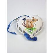 The Sandor Collection Hand Painted Porcelain Heart Ornament