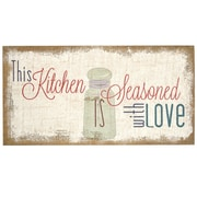 Stratton Home Decor Seasoned w/ Love Typography Burlap Wall Decor