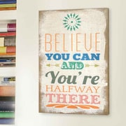 Stratton Home Decor Believe Typography Burlap Wall Decor