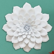 Stratton Home Decor Layered Flower Wall D cor; White Glossy