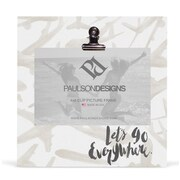 Paulson Designs Let's Go Everywhere Travel Clip Picture Frame