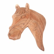Novica Artisan Crafted Wood Horse Panel Wall D cor