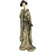 Oriental Furniture Geisha w/ Small Bow Kimono Figurine