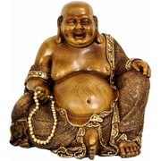 Oriental Furniture Sitting Hotei Happy Buddha Figurine