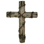 River's Edge Products 14'' Wooden Wire Cross Wall Decor
