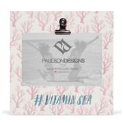 Paulson Designs Beach Vitamin Sea Clip Picture Frame