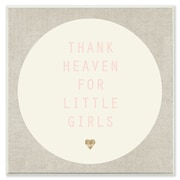 Stupell Industries Thank Heaven For Little Girls Cream and Pink Wall Plaque