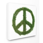 Stupell Industries Grass Peace Sign Stretched Canvas Wall Art