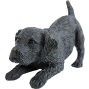 Sandicast Small Size Labrador Retriever Sculpture; Black