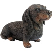 Sandicast Small Size Dachshund Sculpture; Black