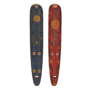 Woodland Imports 2 Piece The Old Wood Mask Wall D cor Set