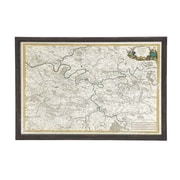 Woodland Imports The Ultra Cool Wood Glass Map Wall D cor