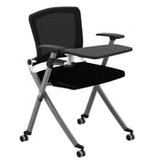 Compel Office Furniture Ziggy 19.25'' Mesh Tablet Desk; Flexi Graphite
