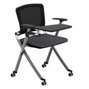 Compel Office Furniture Ziggy 19.25'' Mesh Tablet Desk; Flexi Alloy