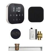 Mr. Steam AirButler Steam Shower Package; Black/Brushed Nickel