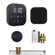 Mr. Steam AirButler Steam Shower Package; Black/Brushed Bronze