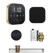 Mr. Steam AirButler Steam Shower Package; Black/Polished Brass