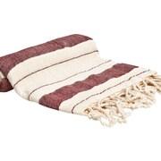 Buldano Turkish Style Peshtemal Turkish Bath Towel; Burgundy