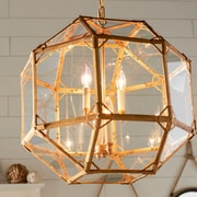 Elegant Lighting Gordon 4-Light Foyer Pendant; Golden Iron