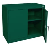 "Sandusky® Elite 36"" x 18"" x 30"" Desk Height Cabinet With Adjustable Shelves, Forest Green"
