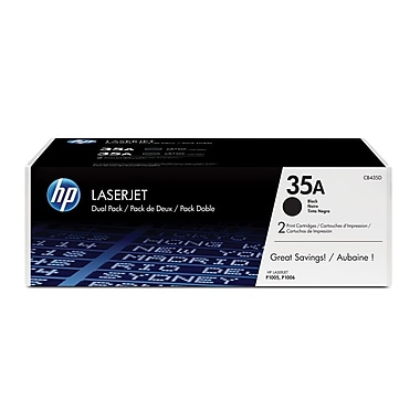 HP 35A (CB435D) Ens. 2 cartouches de toner HP LaserJet noir d'origine