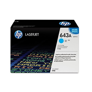 HP 643A (Q5951A) Cartouche de toner HP LaserJet cyan d'origine