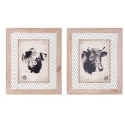 Woodland Imports 2 Piece Homestead Wall Decor Set