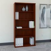 Bush Business Westfield 36W 5 Shelf Bookcase, Hansen Cherry/Graphite Gray