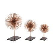 Woodland Imports 3 Piece 3D Table Top Sculpture Set; Bronze