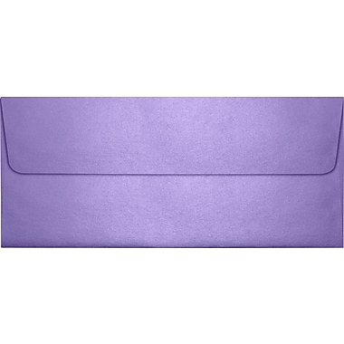 LUX Peel & Press #10 Square Flap Envelopes (4 1/8 x 9 1/2) 50/Pack, Amethyst Metallic (5360-17-50)