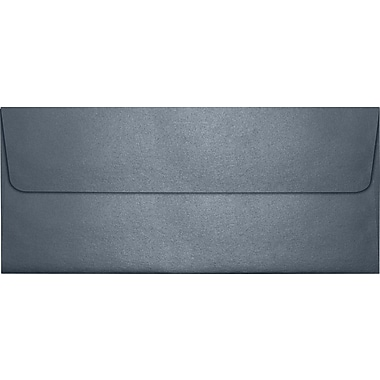 LUX Peel & Press #10 Square Flap Envelopes (4 1/8 x 9 1/2) 250/Box, Anthracite Metallic (5360-15-250)