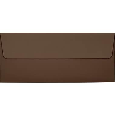 LUX Peel & Press #10 Square Flap Envelopes (4 1/8 x 9 1/2) 50/Pack, Chocolate Brown (EX4860-17-50)