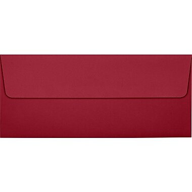LUX Peel & Press #10 Square Flap Envelopes (4 1/8 x 9 1/2) 50/Pack, Garnet (EX4860-26-50)