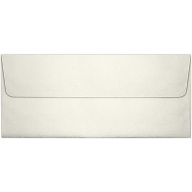 LUX Peel & Press #10 Square Flap Envelopes (4 1/8 x 9 1/2) 500/Box, Quartz Metallic (5360-08-500)