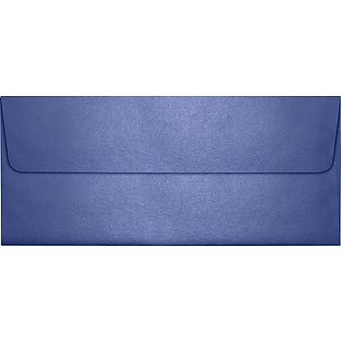 LUX Peel & Press #10 Square Flap Envelopes (4 1/8 x 9 1/2) 250/Box, Sapphire Metallic (5360-18-250)