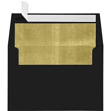LUX A4 Foil Lined Invitation Envelopes (4 1/4 x 6 1/4) 250/Box, Black w/Gold LUX Lining (FLBK4872-04-250)