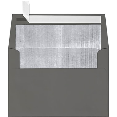LUX A4 Foil Lined Invitation Envelopes (4 1/4 x 6 1/4) 50/Box, Smoke w/Silver LUX Lining (FLSM4872-03-50)