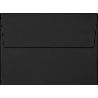 LUX A7 Invitation Envelopes (5 1/4 x 7 1/4) 50/Box, Black Linen (4880-BLI-50)