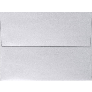 LUX A7 Invitation Envelopes (5 1/4 x 7 1/4) 50/Box, Silver Metallic (5380-06-50)