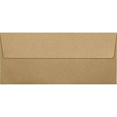 LUX Peel & Press #10 Square Flap Envelopes (4 1/8 x 9 1/2) 250/Box, Grocery Bag Brown (4860-GB-250)