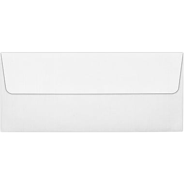 LUX Peel & Press #10 Square Flap Envelopes (4 1/8 x 9 1/2) 250/Box, White Linen (4860-WLI-250)