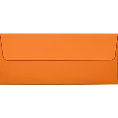 LUX Peel & Press #10 Square Flap Envelopes (4 1/8 x 9 1/2) 250/Box, Mandarin Orange (EX4860-11-250)
