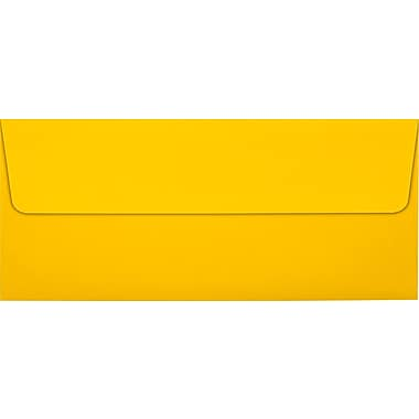 LUX Peel & Press #10 Square Flap Envelopes (4 1/8 x 9 1/2) 1000/Box, Sunflower Yellow (EX4860-12-1000)
