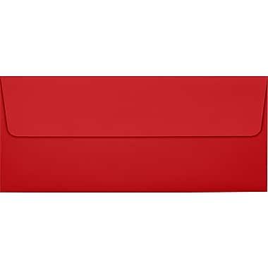 LUX Peel & Press #10 Square Flap Envelopes (4 1/8 x 9 1/2) 1000/Box, Ruby Red (EX4860-18-1000)