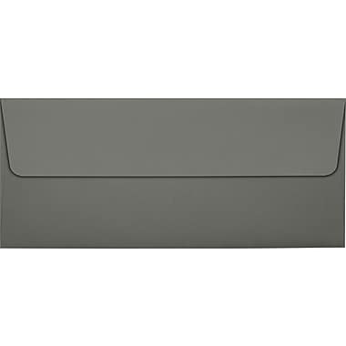LUX Peel & Press #10 Square Flap Envelopes (4 1/8 x 9 1/2) 250/Box, Smoke Gray (EX4860-22-250)
