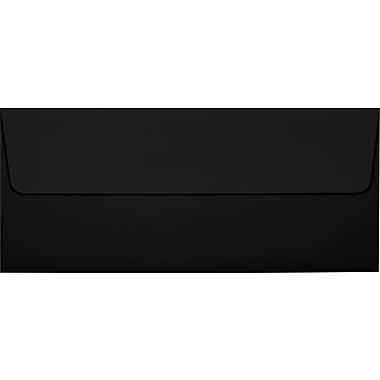 LUX Peel & Press #10 Square Flap Envelopes (4 1/8 x 9 1/2) 250/Box, Midnight Black (F-4560-B-250)