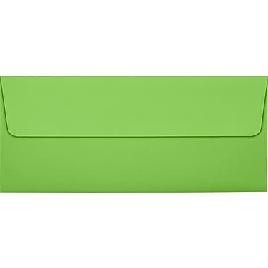 LUX Peel & Press #10 Square Flap Invitation Envelopes (4 1/8 x 9 1/2) 1000/Box, Limelight Green (LUX-4860-101-10)