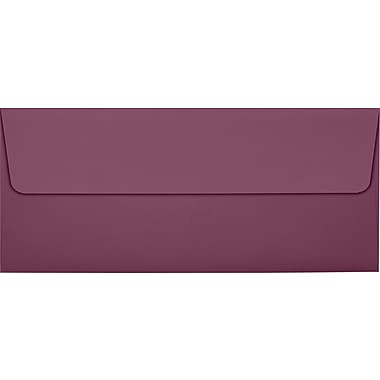 LUX Peel & Press #10 Square Flap Invitation Envelopes (4 1/8 x 9 1/2) 1000/Box, Vintage Plum (LUX-4860-104-10)