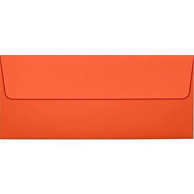 LUX Peel & Press #10 Square Flap Envelopes (4 1/8 x 9 1/2) 250/Box, Tangerine (LUX-4860-112250)
