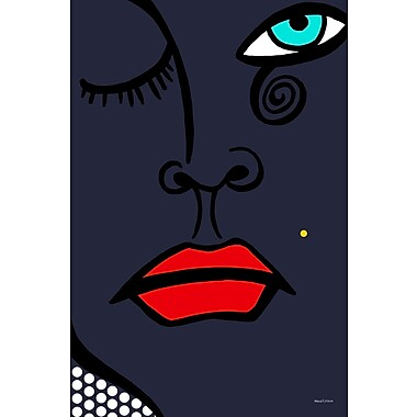 Maxwell Dickson Beauty Mark Graphic Art on Canvas; 24'' H x 18'' W